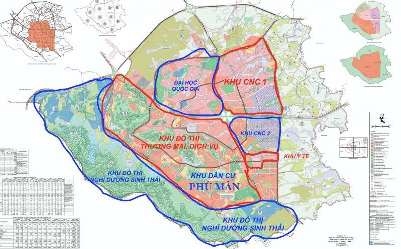 Bản đồ liêt kết vùng khu 32 lô đất nền Phú Mãn - KDC Phú Mãn Villas