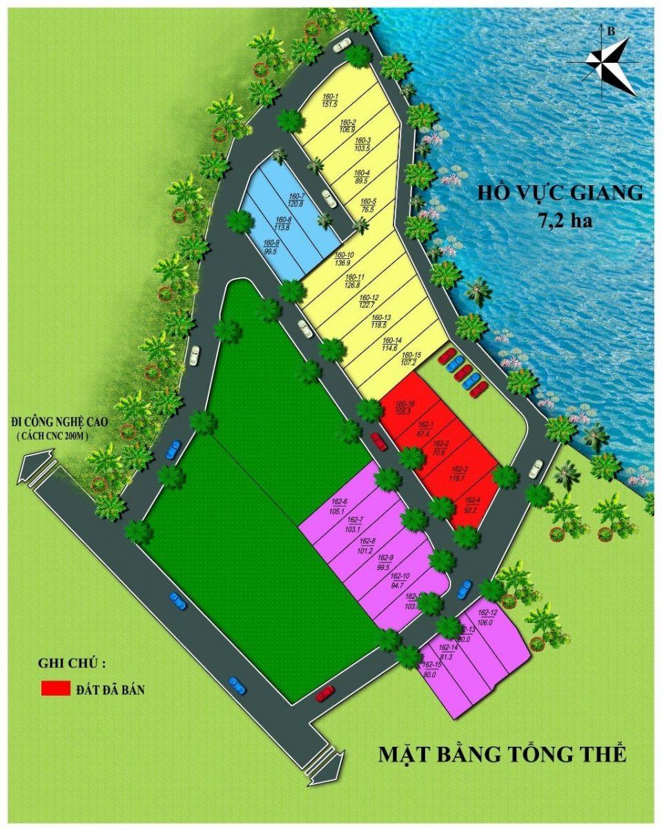 Mặt bằng 29 lô đất nền Hạ Bằng, hồ Vực Giang - Hòa Lạc