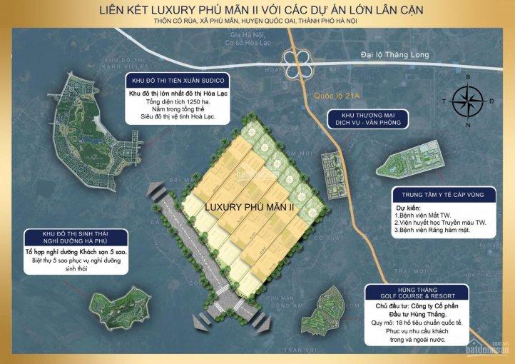 Vị trí khu đất nền Phú Mãn Luxury II Hòa Lạc