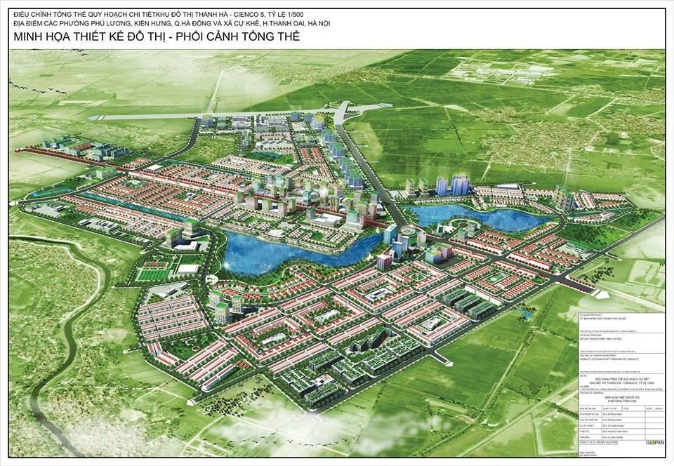 Mặt bằng khu đô thị Thanh Hà
