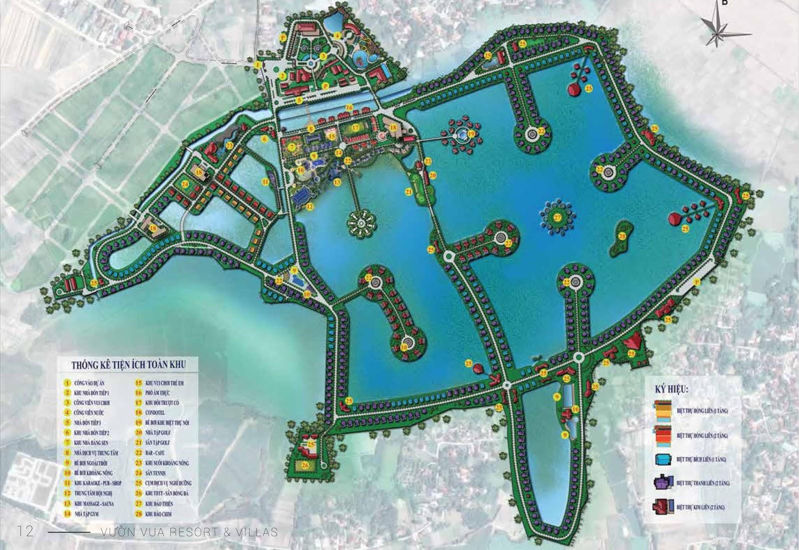 Mặt bằng tổng thể dự án Vườn Vua Resort & Villa