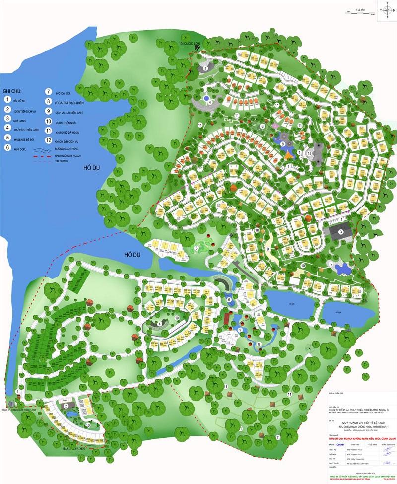 Vị trí dự án Sakana Resort Hòa Bình