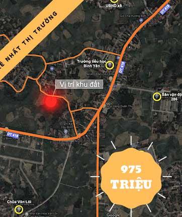 Mặt bằng thiết kế 12 lô đất Cánh Chủ, Bình Yên, Thạch Thất - Khu Công nghệ cao Hòa Lạc