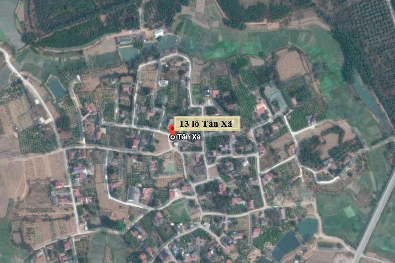 Vị trí 13 lô đất nền Tân Xã, Thạch Thất, Hà Nội