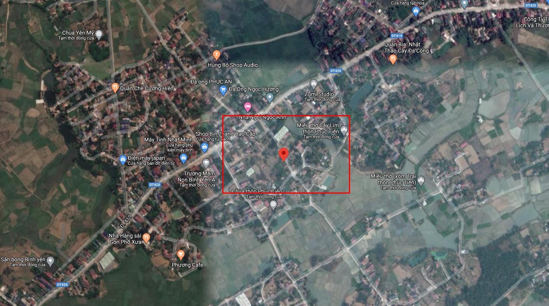 Mặt bằng khu đất 17 lô Phúc Tiến 1 - Bình Yên - Thạch Thất