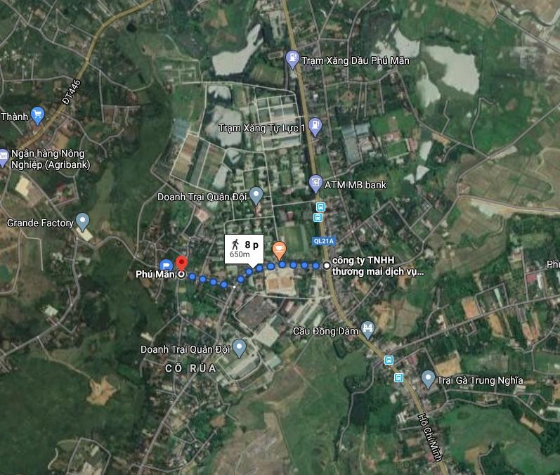 Vị trí 19 lô đất nền có sổ khu dân cư Phú Mãn, huyện Quốc Oai, Hà Nội
