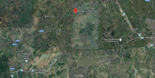 Vị trí khu đất 11 lô thôn Phúc Tiến, Xã Bình Yên, Huyện Thạch Thất - Sát khu CNC Hòa Lạc