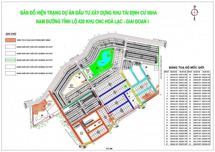 Mặt bằng thiết kế khu tái định cư Bình Yên