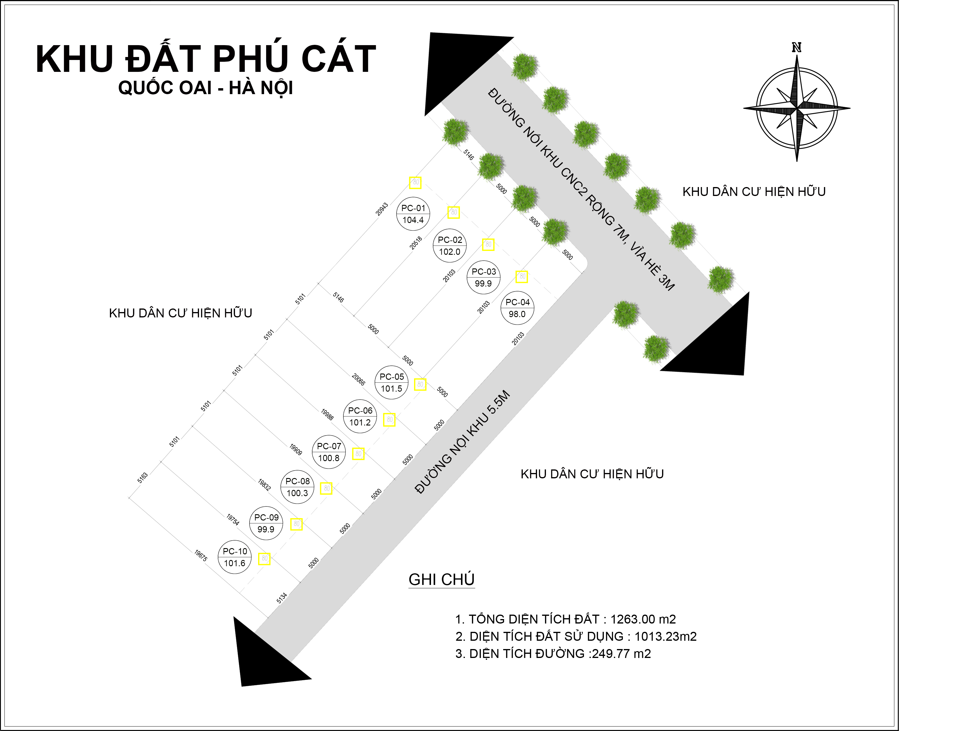 Vị trí 10 lô tái định cư Phú Cát (TĐT Vai Réo), Xã Phú Cát, huyện Quốc Oai, TP Hà Nội