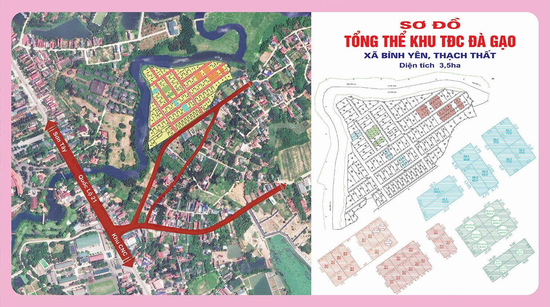 Mặt bằng tổng thể khu tái định cư Đa Gạo Thạch Thất, Hà Nội