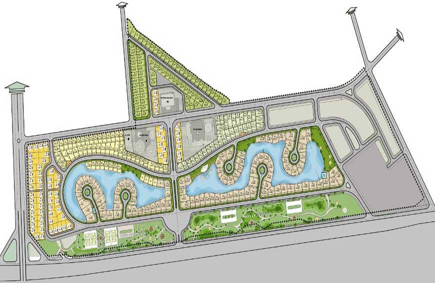 Mặt bằng tổng thể dự án Ngôi Nhà Mới - New House City huyện Quốc Oai, Hà Nội