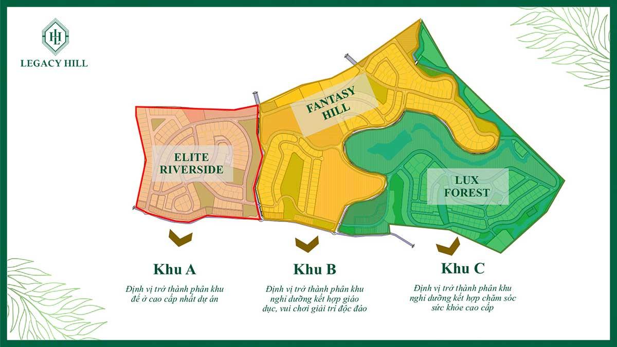 Phân khu A - B - C - dự án Legacy Hill