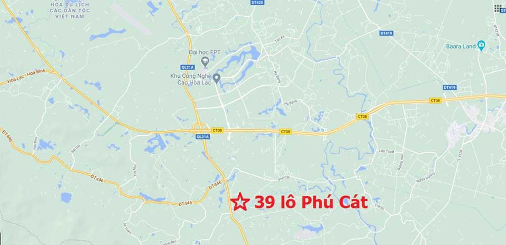 Hỉnh ảnh thực tế khu đất 39 lô Phú Cát, Quốc Oai, Hà Nội