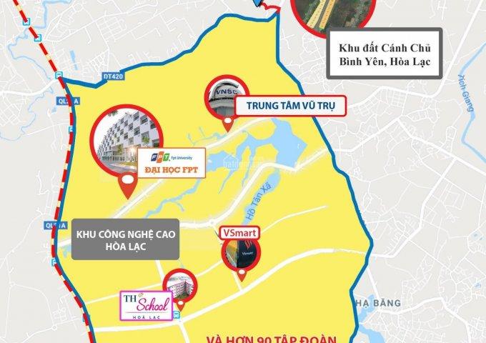 Vị trí khu đất 44 lô khu dân cư Cánh Chủ, Bình Yên - Hòa Lạc