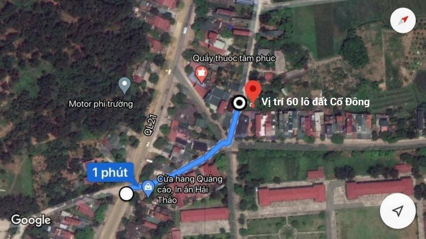Vị trí khu đất phân lô Hòa Lạc, 60 lô đất nền Cổ Đông, thị xã Sơn Tây, TP Hà Nội