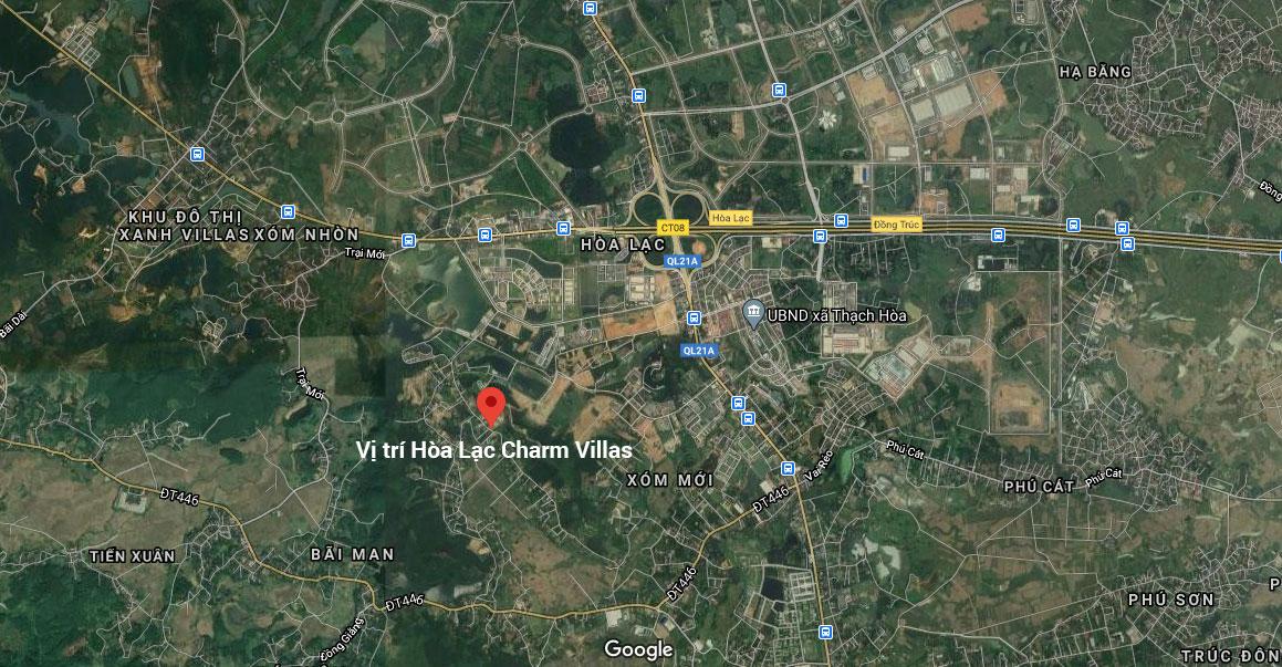 Phối cảnh tổng quan Hòa Lạc Charm Villa