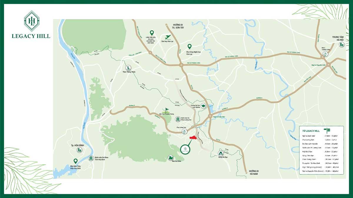 Mặt bằng tổng thể dự án Legacy Hill Lương Sơn