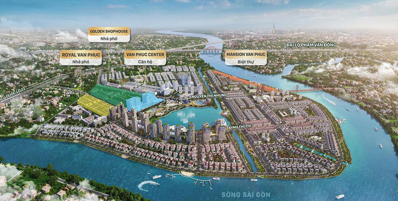 Vị trí dự án khu đô thị Vạn Phúc