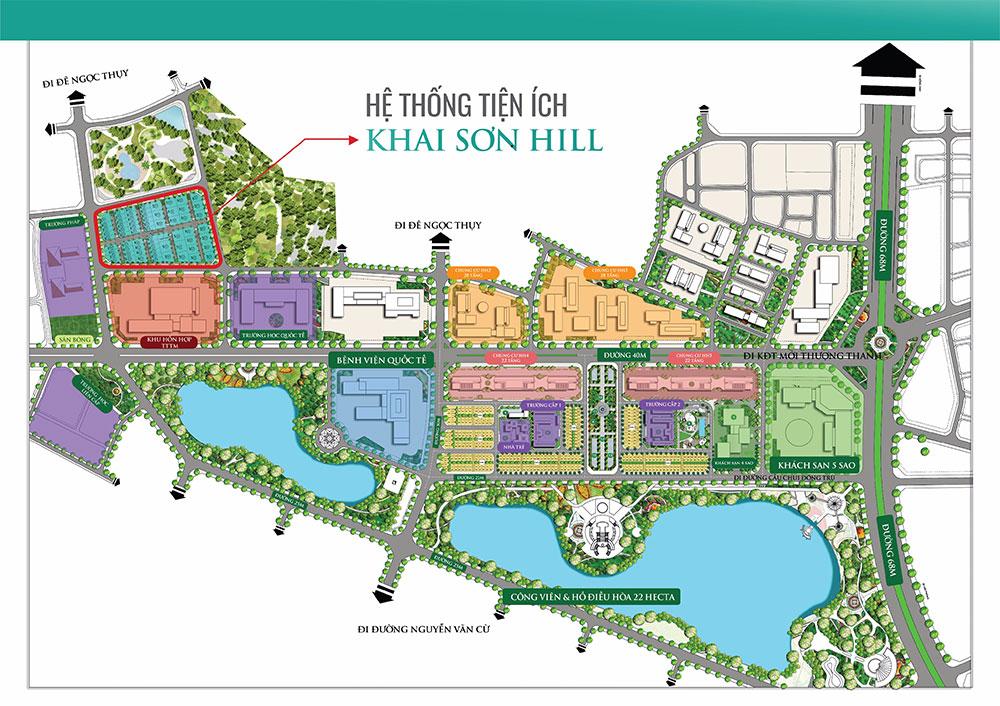 Mặt bằng tổng thể khu đô thị Khai Sơn City