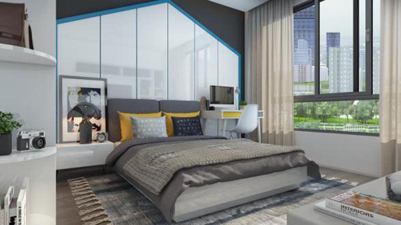 Phòng ngủ căn hộ chung cư Việt Đức Complex