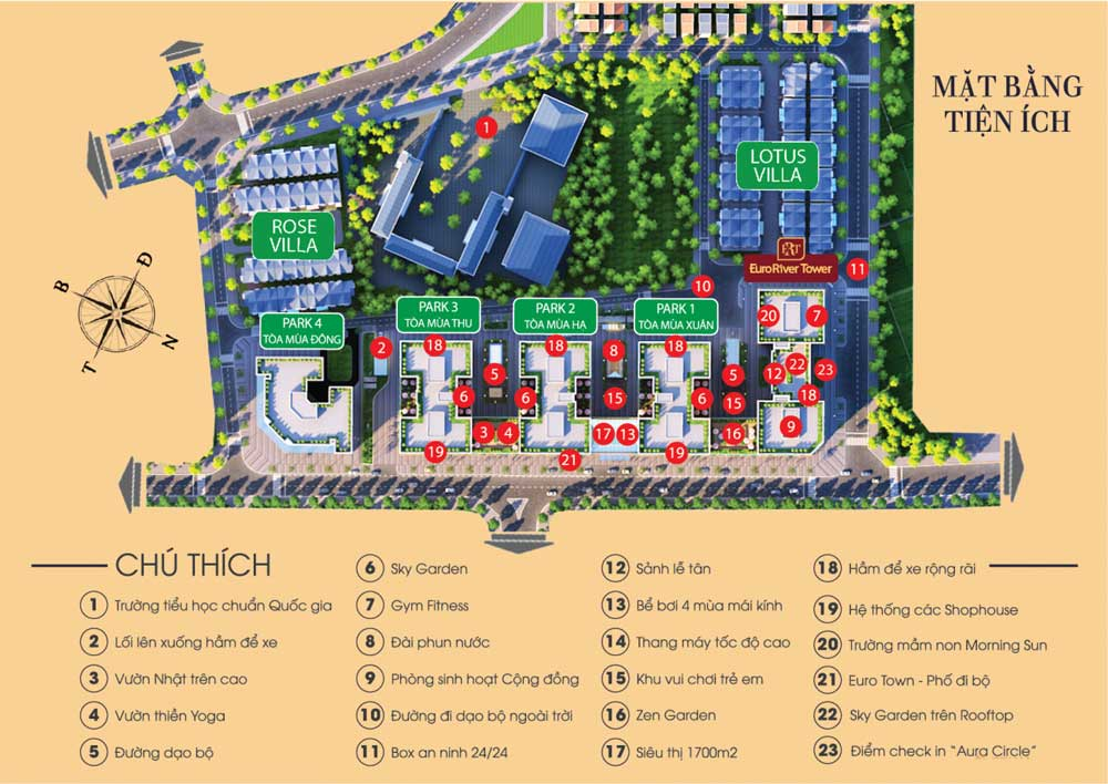 Mặt bằng thiết kế chung cư Eurowindow River Park