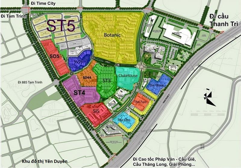 Vị trí dự án liền kề Dahlia Homes ST5 - Gamuda Gardens