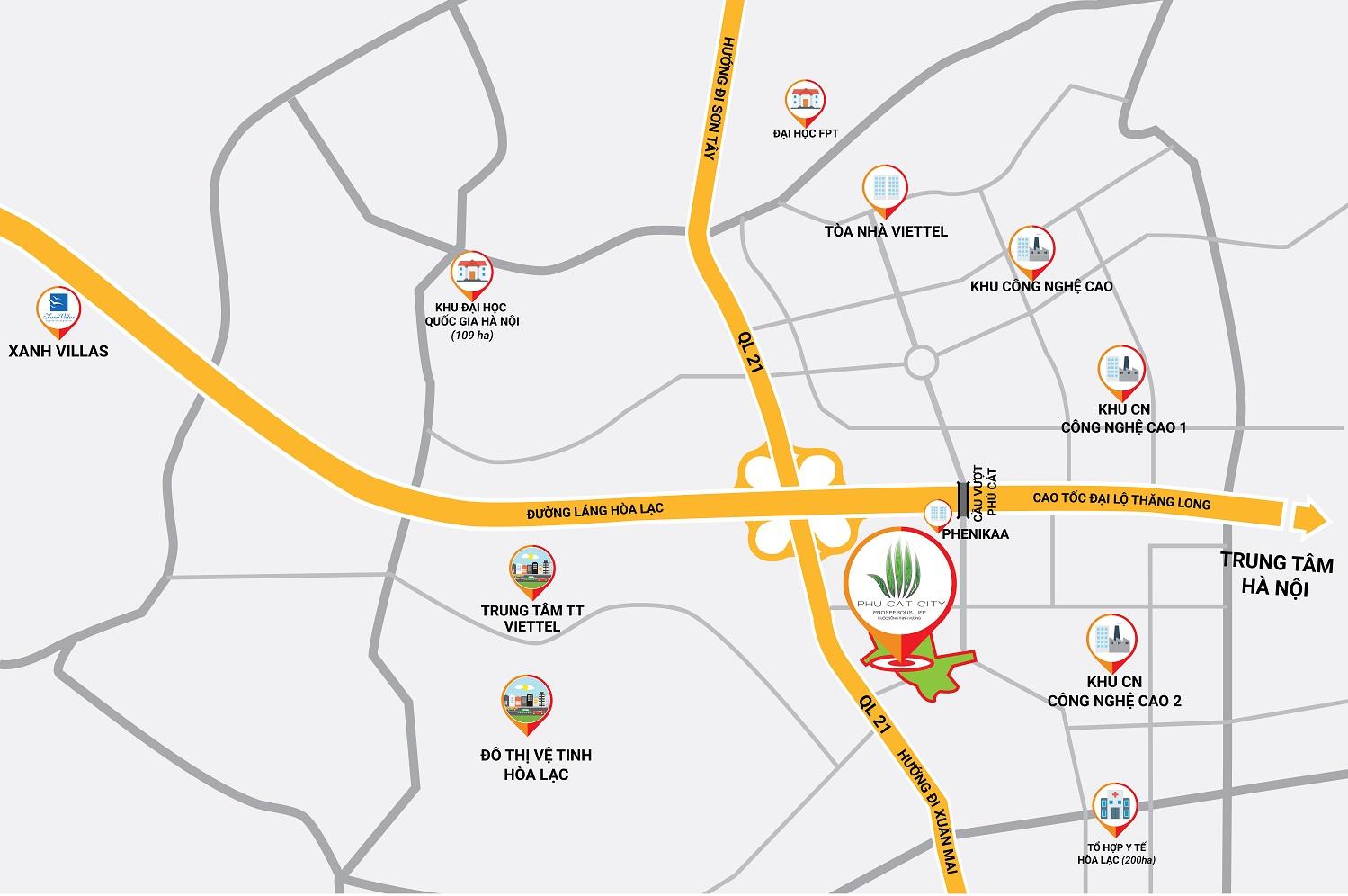 Mặt bằng dự án Phú Cát City