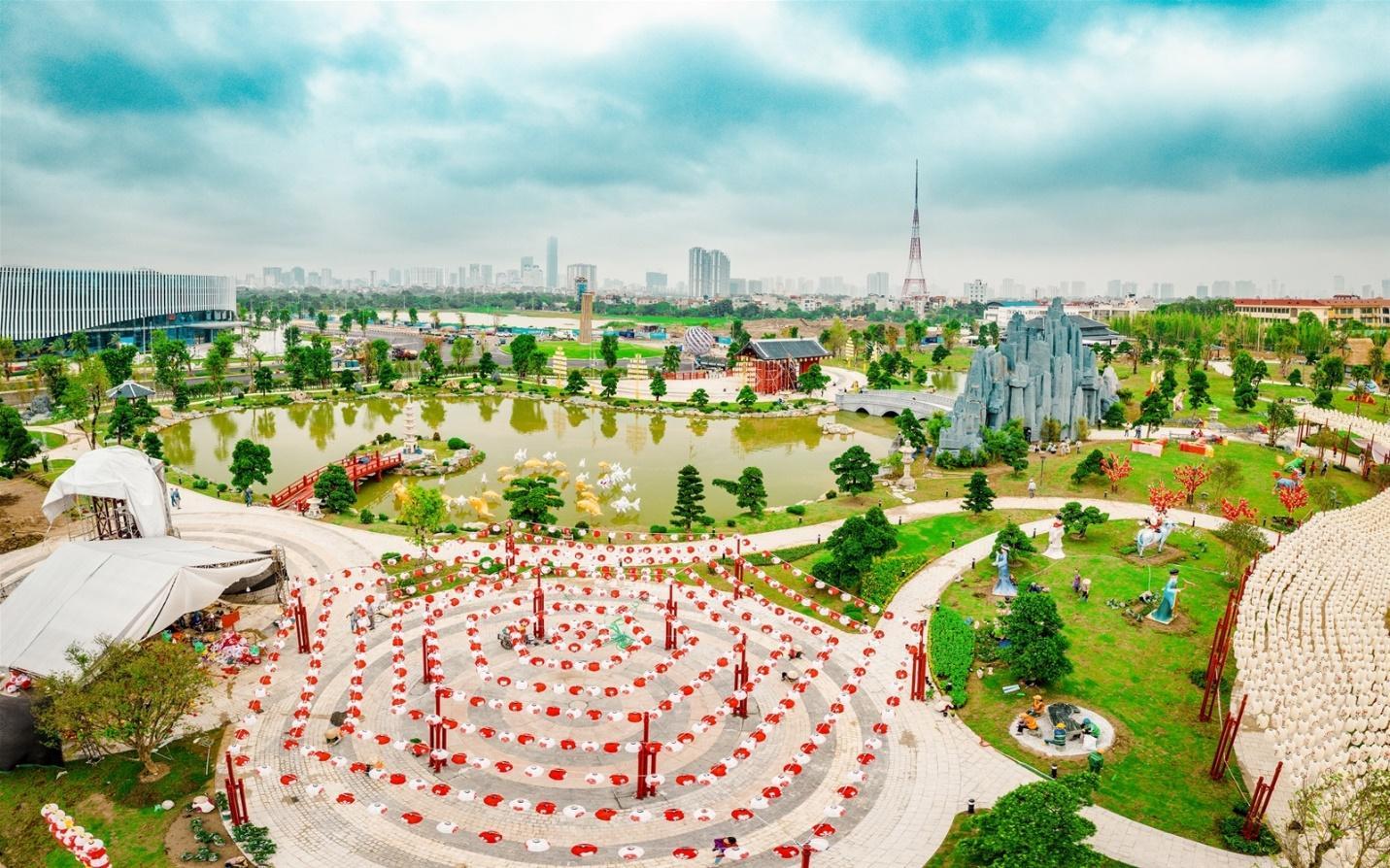 Toàn cảnh vườn Nhật tại Vinhomes Smart City