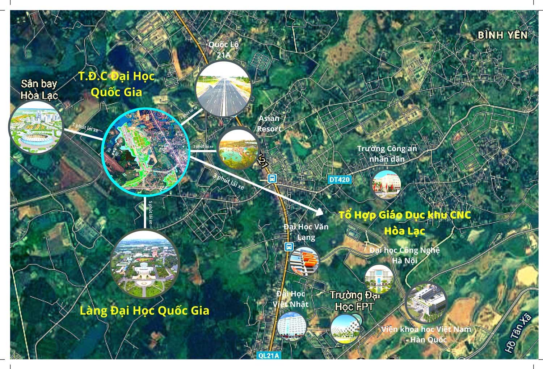 Bán Đất TĐC 52 Lô Tái Định Cư Đại Học Quốc Gia Bảng Hàng Siêu Đẹp Tại Hòa Lạc