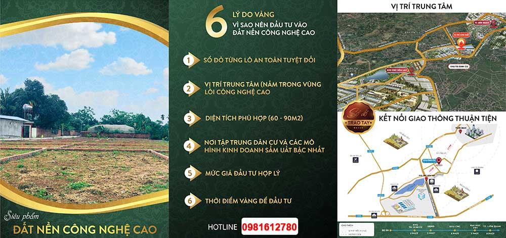 Khu 20 Lô đất nền Tân Xã, CNC Hòa Lạc - Gà Đẻ Trứng Vàng Của Các NĐT