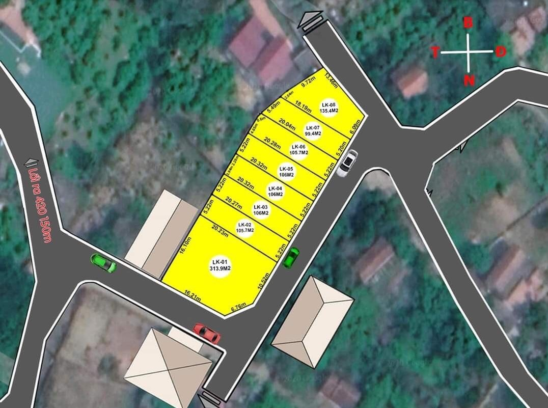 7 lô đất nền thôn Phúc Tiến, Bình Yên - Khu CNC Hòa Lạc