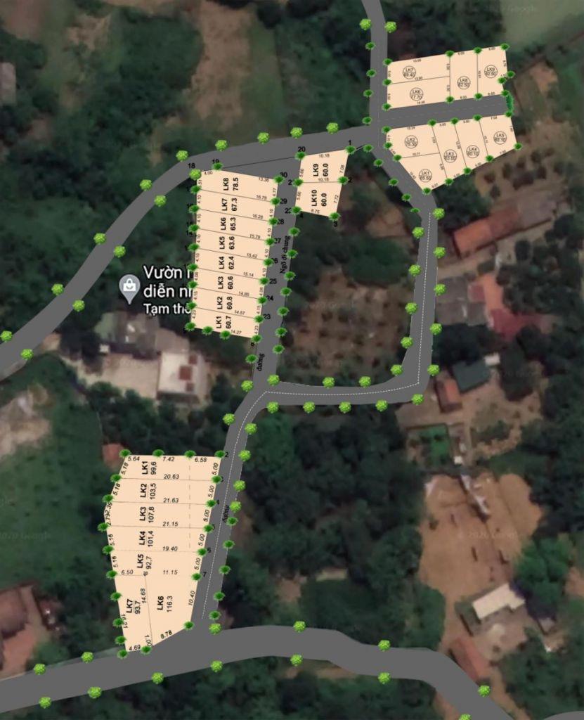 Khu 26 lô đất nền Đồi Sen, Bình Yên - CNC Hòa Lạc