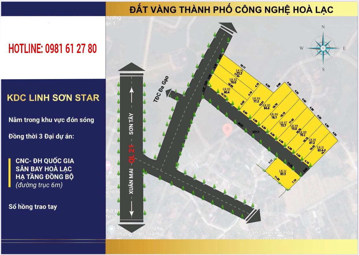 Khu đất 12 lô Linh Sơn, Bình Yên Giá Tốt Nhất Hòa Lạc
