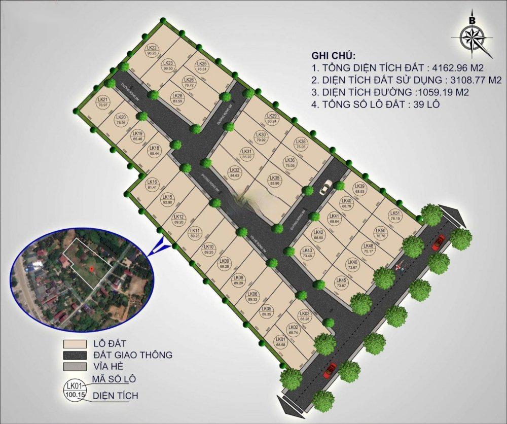 39 Lô Đất Nền Phú Cát – Hòa Lạc DT 65-100m2 Full Thổ Cư Mặt Tiền QL21
