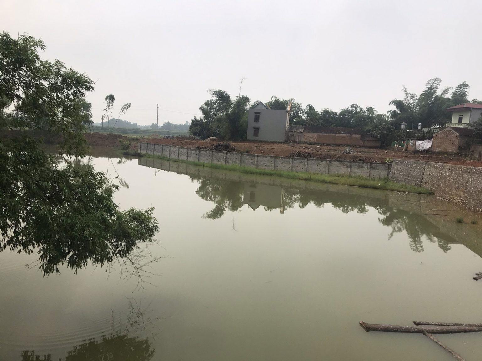 Đất nền phân lô mặt hồ Vực Giang, thôn 8, Hạ Bằng
