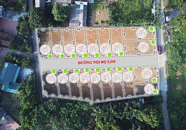 19 lô đất nền Khu dân cư Phú Mãn cách QL 21 500m có sổ đỏ