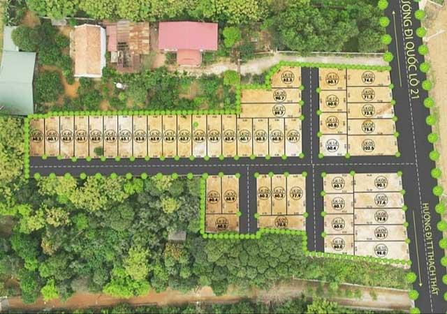 46 Lô Linh Sơn - Hòa Lạc Mặt Đường Trục Chính DT 60-102m2 FULL 100% Thổ Cư
