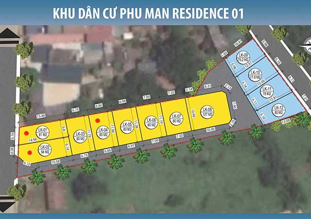 Bán đất nền trục chính xã Phú Mãn khu 12 lô Phú Mãn Residence 01, FULL thổ cư 100%