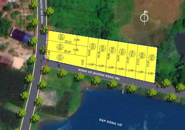 Đất nền Hòa Lạc khu 10 lô Phú Mãn Riverside, View hồ 3ha