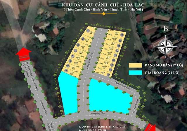 Mở bán khu đất nền Hòa Lạc 38 lô Cánh Chủ, Xã Bình Yên gần khu CNC