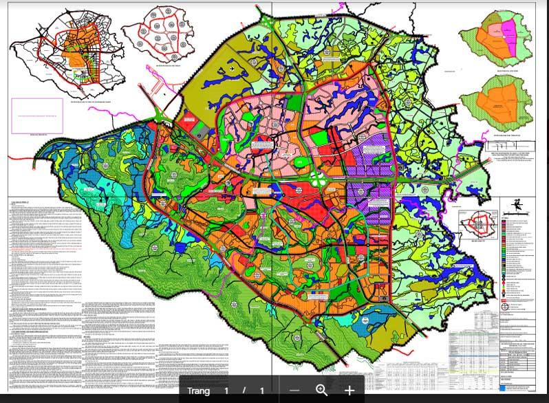 Bản đồ quy hoạch khu đô thị Hòa Lạc đến năm 2030