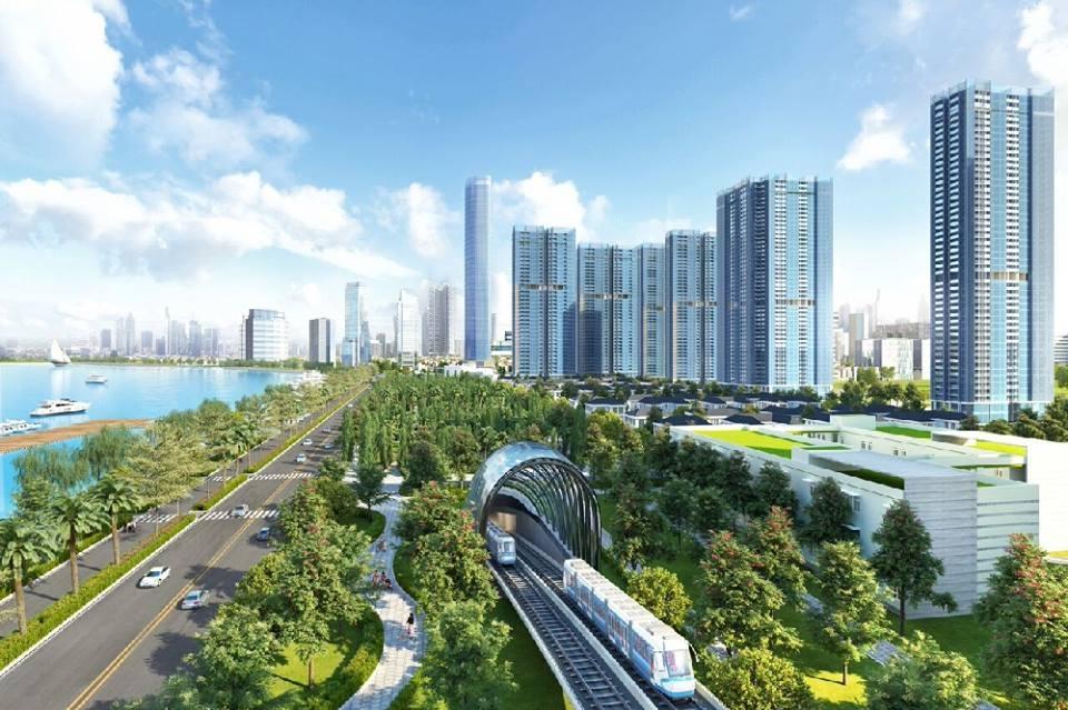 Phối cảnh tuyến metro số 5, Hà Nội đoạn Văn Cao - Ngọc Khánh - Láng - Hòa Lạc.