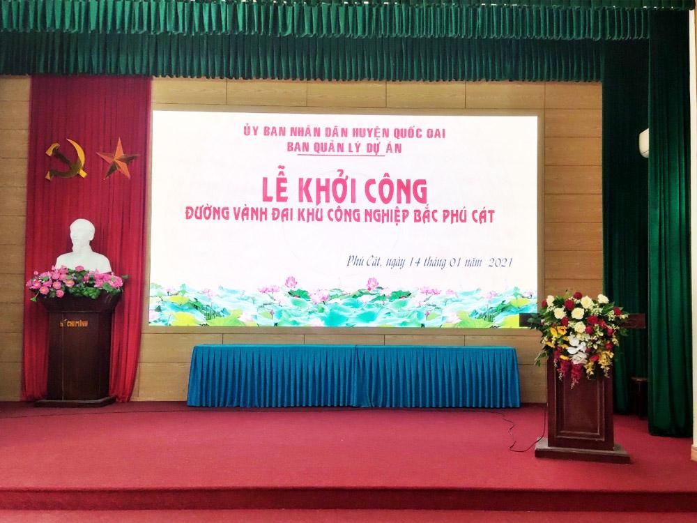 Đường Vành Đai KCN Bắc Phú Cát chính thức cắm biển thi công trong 700 ngày