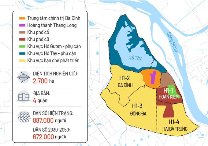 Hà Nội sẽ giảm hơn 200.000 dân ở bốn quận nội thành